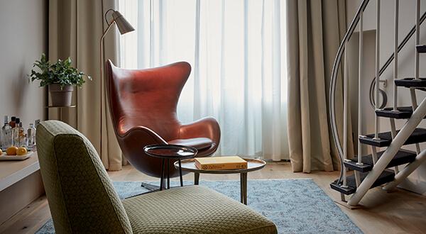 Split level loft suite at Park Hotel Amsterdam