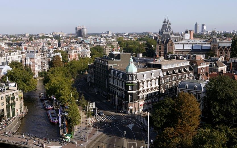 Park Hotel seen from above Central location in Amsterdam