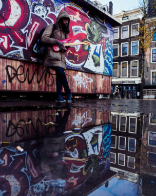 Cristian Geelen Guy with Guitar in Amsterdam